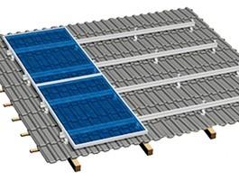 Estructura para tejado inclinado de 30 a 45 grados
