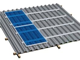 Estructura para tejados de chapa inclinados de 30 a 45 grados