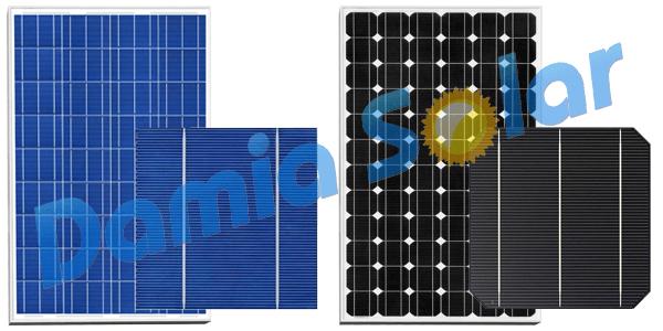 Existen diferencias entre una placa solar policristalina y una monocristalina?
