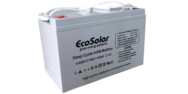 Nueva batería AGM Ecosolar 150Ah C100, recomendada para autocaravanas y barcos