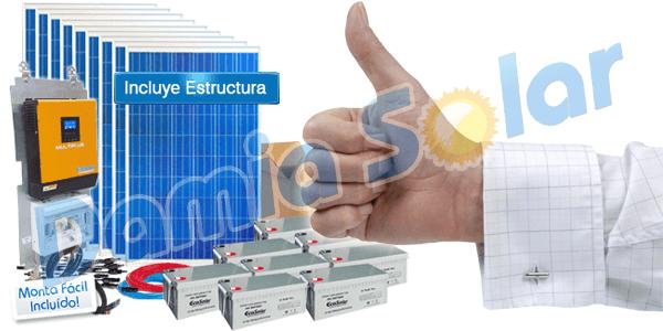 Kits solares con rendimiento real y componentes de alta fiabilidad