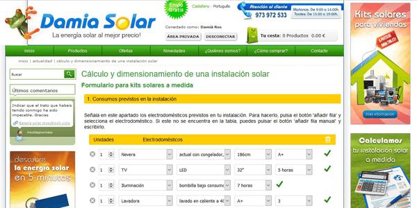 Presupuestos online personalizados de energia solar fotovoltaica