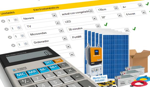 Formulario online presupuesto solar a medida de tu instalación solar!