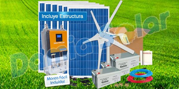 Instalación híbrida solar + eólica. ¿Me conviene?