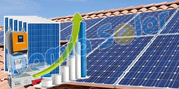 ¡Los kits Damia Solar con los nuevos Multiplus 1Kva 1000W 12V y 3Kva MPPT 3000W!