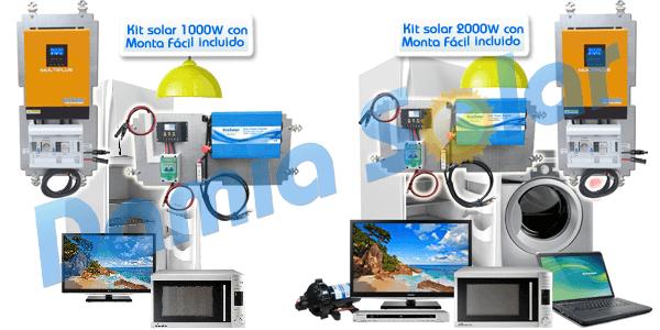Nuevos kits solares de 1000W y 2000W. Uso intermedio de consumos de aislada
