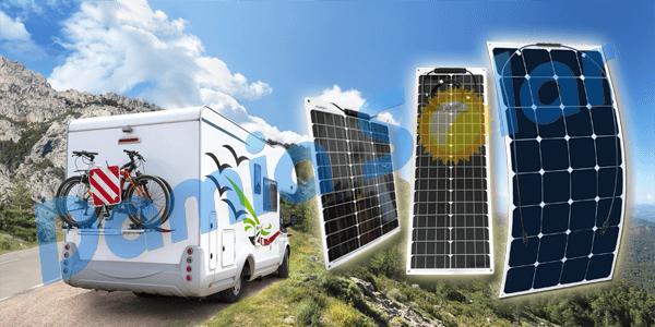 Gama de paneles solares flexibles Ecosolar 2018. Ideal autocaravanas y barcos.