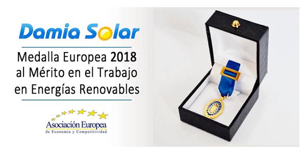 Damia Solar recibe la Medalla Europea al Mérito en el Trabajo 2018