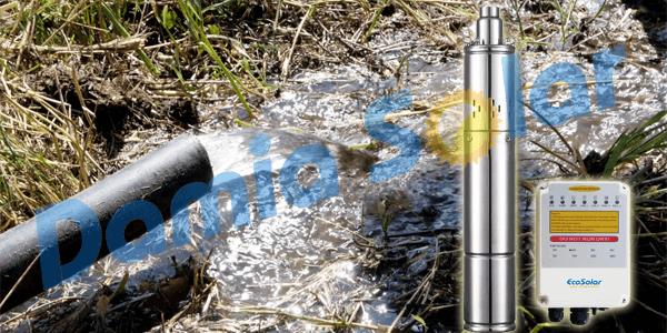 Nueva bomba sumergible Ecosolar 310X para caudales de hasta 2000 litros/hora
