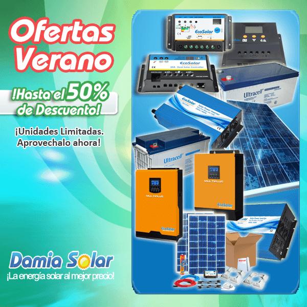 Ofertas de Verano en Damia Solar. Descuento hasta el 50% ¡Unidades limitadas!