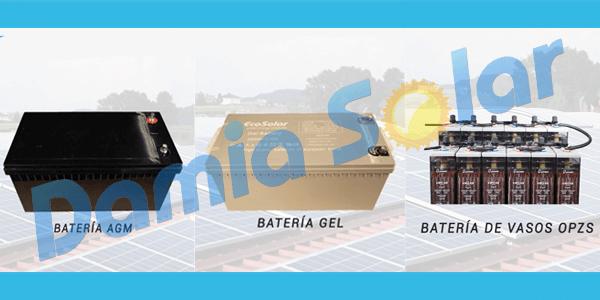 ¿Qué tipo de baterías debo usar según los aparatos y consumos de mi hogar?