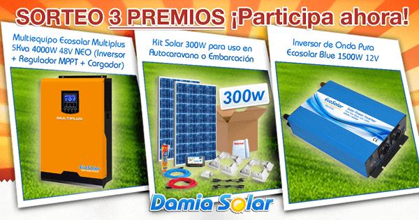 ¡Participa en el sorteo de 3 importantes premios en el Facebook de Damia Solar!
