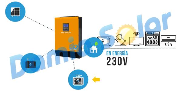 ¡Equipos solares multiplus (inversor-regulador-cargador) en promoción!