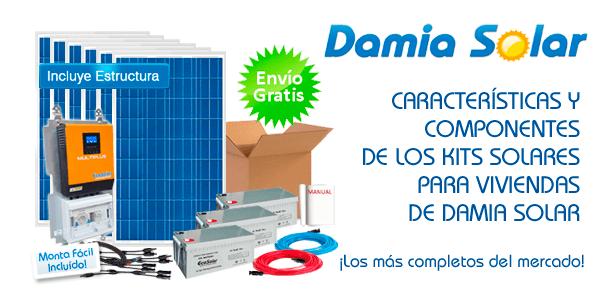 Características y componentes de los kits solares para viviendas de Damia Solar