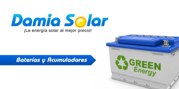 Baterías solares recargables
