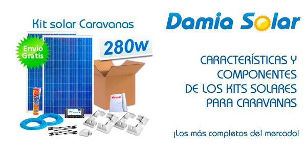 Características y componentes de Kits solares para Caravanas