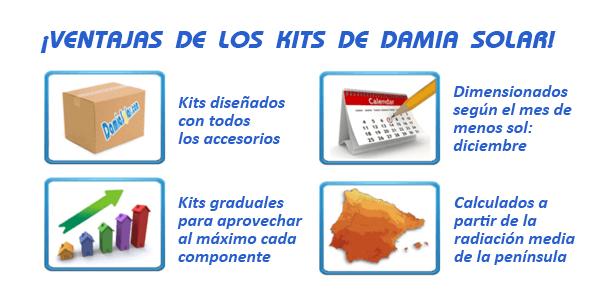 ¿Qué ventajas ofrecen los kits de Damia Solar?