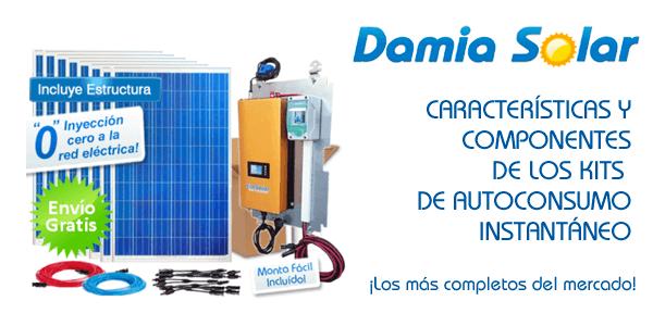 Características y componentes de Kits solares para Autoconsumo directo