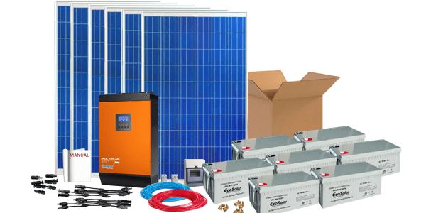 Agora os kits da Damia Solar com baterias de gel