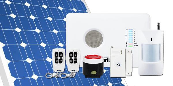 Alarma de Seguridad GSM mediante energía solar