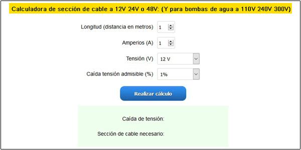 PARTE 2: Como calcular la sección o grosor de cable en mi instalación solar?