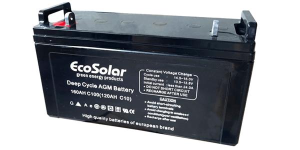 Nueva batería AGM Ecosolar 160Ah C100