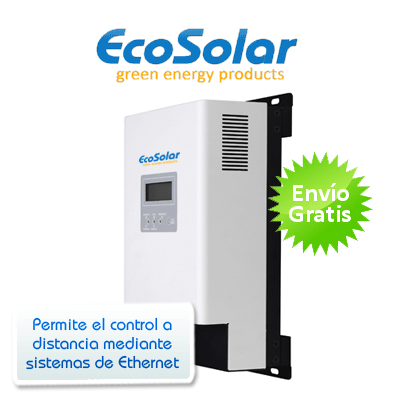 Regulador MPPT Ecosolar ETHERNET 60A 12/24/48V con pantalla