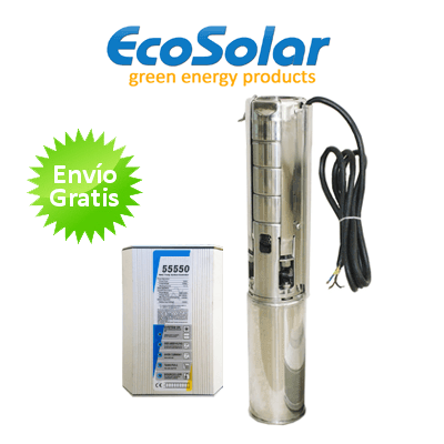 Bomba de agua solar ecosolar sumergible esp 540x regulador for Bomba de agua sumergible