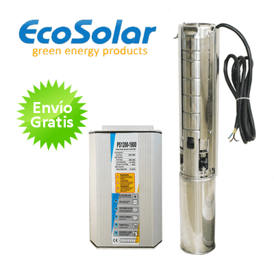 Bomba de agua solar ecosolar sumergible esp 1300x regulador for Bomba de agua sumergible