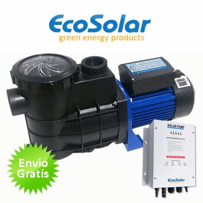 Bomba depuradora solar para piscina ecosolar ps750 1cv for Bomba de piscina