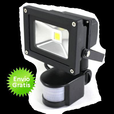 Foco Led De 10w Con Sensor Movimiento Y Luz