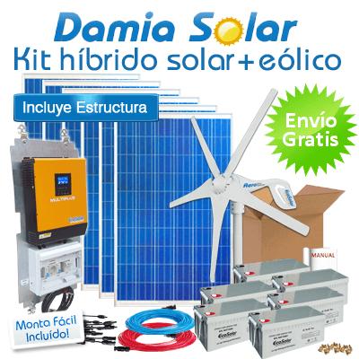 Kit H 237 Brido Solar E 243 Lico 3000w Uso Diario Nevera