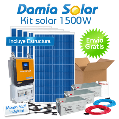 Kit Solar 1500w Eco Luz Tv Microondas Nevera Port 225 Til