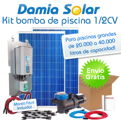Kit solar bomba depuradora de piscinas bomba 1 2 cv for Kit de piscina