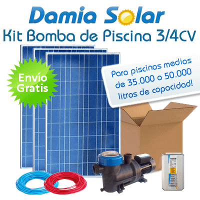 Kit solar bomba de piscina bomba 3 4 cv for Kit de piscina
