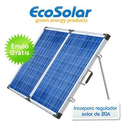 Panel solar plegable port til 260w 12v 130w 130w for Baterias placas solares