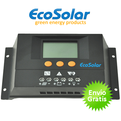 Regulador Ecosolar 30A con pantalla