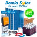 Kit 2000W Uso Diario: Nevera Congelador, lavadora, TV microondas, etc. ONDA PURA