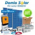 Kit solar 2000W ECO Uso en verano y fines de semana. ONDA PURA y CARGADOR