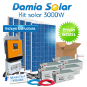 Kit solar 3000W ECO Uso en verano y fines de semana. ONDA PURA y CARGADOR