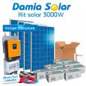 Kit solar 3000W ECO: TV, nevera congelador, lavadora, etc. ONDA PURA y CARGADOR