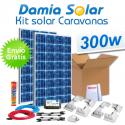 Kit solar completo para autocaravanas 300W cuasi-mono