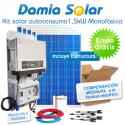 Kit autoconsumo solar 1,5kW monofásico con excedentes