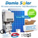 Kit autoconsumo solar 1kW monofásico Inyección Cero