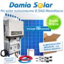 Kit autoconsumo solar 2,5kW monofásico con excedentes
