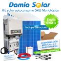 Kit autoconsumo solar 5kW monofásico Inyección Cero