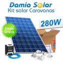 Kit solar completo para autocaravanas con panel 280W 24V para instalación a 12V
