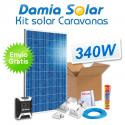 Kit solar completo para autocaravanas con panel 340W 24V para instalación a 12V