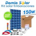 Kit solar completo para embarcaciones y barcos 150W cuasi-mono