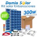 Kit solar completo para embarcaciones y barcos 300W cuasi-mono